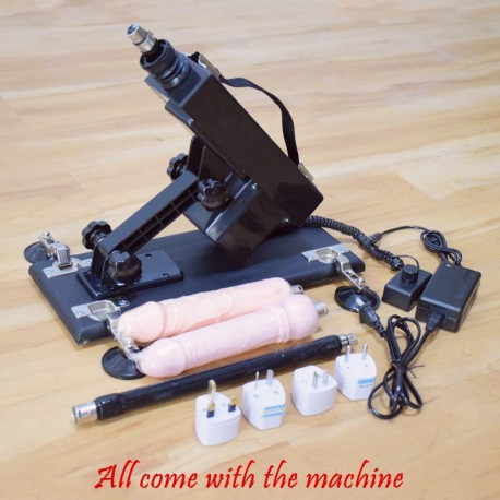 Black Automatic Sex Machine 6 cm Retractable Masturbation Machine Gun for Women and Men