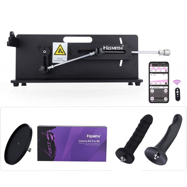 Hismith Table Top 2.0 Pro Sex Machine - APP / Telecomando / Controllo tramite filo con allegati in bundle