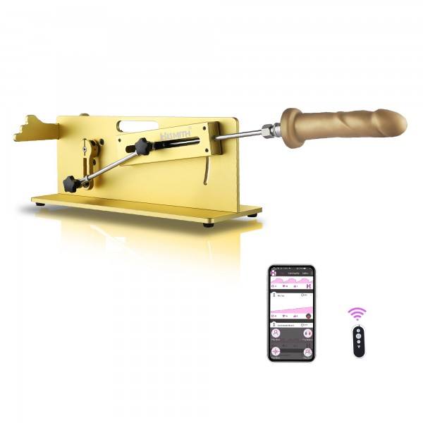 Hismith Table Top 2.0 Pro - Premium Sex Machine with APP/Remote/Wire 3 in 1 Control - Gold