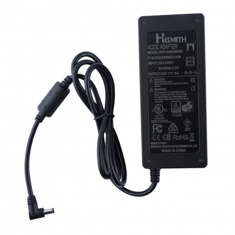 Hismith 24V 5A 120W AC/DC Adapter Power Supply, Barrel Connector